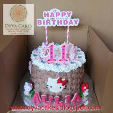 Jual Hello Kitty Birthday Cake Dia18cm Dyva Cakes Tokopedia