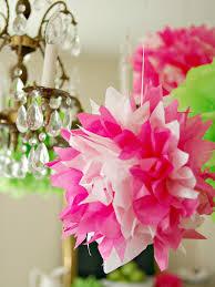 Pom Pom Decorations How To Make Tissue Pom Poms Hgtv