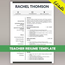 Teacher Resume Template For Ms Word Educator Cv Download Cover