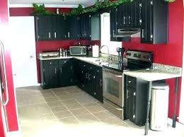 Image General Finishes Janetjames Foxy Paint Kitchen Cabinets Dark Red Wall Black Painted