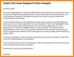 Letter Format For Increment In Salary New Increase Template