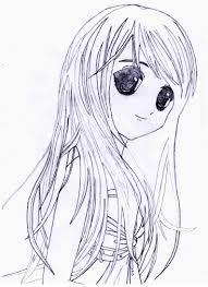 как нарисовать красивую аниме девушку карандашом поэтапно