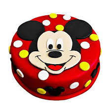 Adorable Mickey Mouse Cake 1kg Chocolate Gift Mickey Mouse