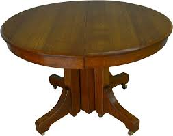 details about 17404 mission round oak dining table