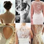Платья с кружевами по спинке