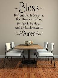 bless the food before us wall decal kitchen wall art dining room wall words vinyl lettering wall sticker family wall decor 36 x 32 on wall art words stickers with bless the food before us wall decal kitchen wall art dining room