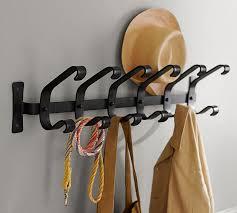 row of hooks coat rack. In Row Of Hooks Coat Rack Pottery Barn