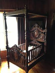 featured member antiques september 28 dusty old thing fabulous antique four postered baby bed believed to be walnut late century and possibly french