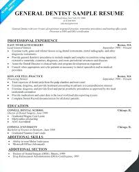 Dentist Resume Samples Dental Resumes Samples General Dentist Resume Dental Office Manager