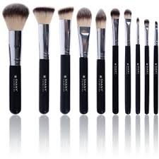 anastasia brush kit. shany ombre pro 10 piece essential brush set with travel pouch, black anastasia kit p