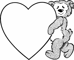 They print in economical black and white and are ready for your kiddos to cut them apart and color them with crayons or markers. Bridal Association Of America Wedding Clip Art Heart Coloring Pages Valentines Day Coloring Page Bear Coloring Pages