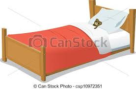 kids bed clipart. Beautiful Clipart Cartoon Bed With Teddy Bear  Csp10972351 To Kids Clipart I