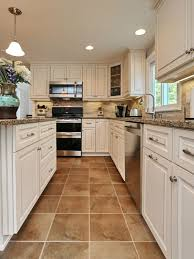 remarkable flooring accent and material ideas absorbing narrow kitchen floor features brown