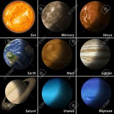 all best known solar system planets and the main star sun stock photo 37559342