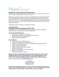 Machine Operator Job Description For Resume Awesomet Sample Resume Objective Year Experience Software 49