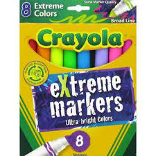 crayola ultra bright extreme markers