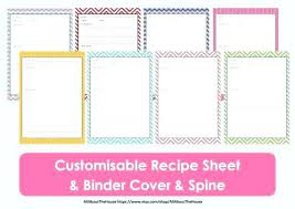 recipe binder template free recipe book templates bined with free printable recipe binder templates for prepare