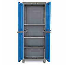 Nilkamal Kitchen Furniture Nilkamal Freedom Fb1 Big Storage Cabinet Dark Blue And Grey
