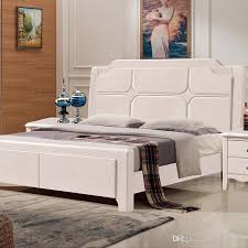 2019 Modern Minimalist Chinese Solid Wood Bed 1.8m Master Bedroom ...