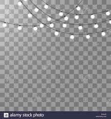 White Garland No Lights Christmas Lights Isolated On Transparent Background Xmas