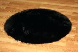 black fur rug black fur rug 3 round premium black fur rug non slip washable great