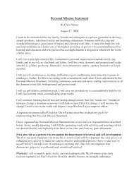 Mission Statement Example Personal Mission Statement Essay Personal Mission Statement