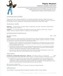 Vfx Resume Samples Best Vfx Artist Resume Best Resume Template Whizzme