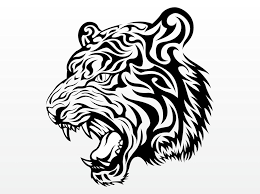 tiger face clipart black and white.  Black Tiger Head Clip Art On Face Clipart Black And White 0