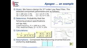 Electrical Design Analysis Example Electrical Design With Apogee Sensitivity Analysis And Monte Carlo