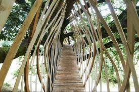 Tree House Architecture Dramatic Dartmoor Treehouse Is Woven From Wood Like A Birds Nest