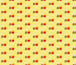hamburger and fries wallpaper. Unique Hamburger Burger And Fries Fabric By Applejackkids On Spoonflower  Custom Throughout Hamburger And Fries Wallpaper R