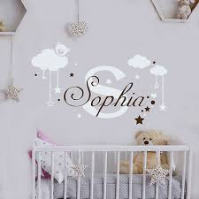 girl name wall decal monogram decal