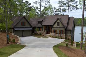 single story waterfront home plans lovely waterfront house plans walkout basement circuitdegeneration