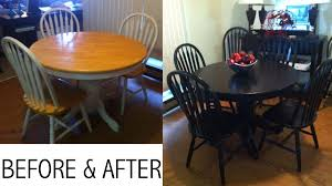 diy paint job on my dining room table no sanding required 1 zinsser bulls eye 1 2 3 1 gal water based white primer sealer 2 spray painted all 6 chairs