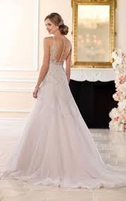 wedding dresses a line halter wedding dress with silver beading