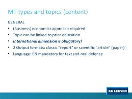 feb brussels master s thesis ppt  mt types and topics content