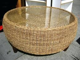 round rattan coffee table. Round Wicker Coffee Table Glass Top Rattan