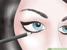 image led do emo makeup step 5