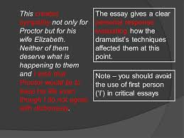 sample essay the crucible ppt video online  16 this