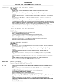 Clinical Research Associate Job Description Resume Clinical Research Specialist Resume Samples Velvet Jobs 94