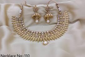 Antique Polki Jewellery Designs Rasrava Antique Polki Set Bridal Necklace Set Rama