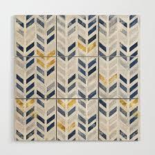 herringbone chevron pattern indigo faux