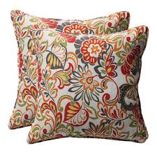 decorative multicolored floral square outdoor toss pillows set of 2 outdoor throw pillows t62