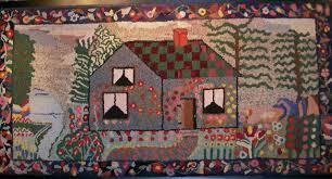 folk art rugs wool