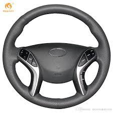 hyundai elantra 2016 black. mewant black genuine leather car steering wheel cover for hyundai elantra 2011 2016 avante i30 2012 aztec baja