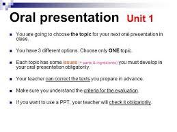 oral presentation unit smart servants you are going to choose the oral presentation unit 1 you are going to choose the topic for your next oral presentation