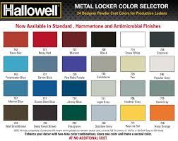 Hallowell List Industries Color Charts Hallowell List
