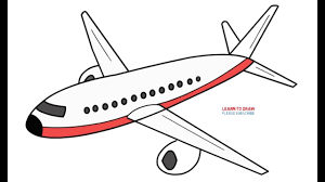 Airplane Drawing How To Draw An Airplane Step By Step Easy Youtube