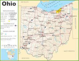 ohio highway map
