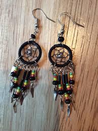 Bob Marley Dream Catcher Rasta dainty dreamcatcher earrings Rasta Fairies Reggae 59